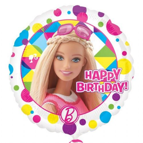 "18"" Barbie Sparkle Happy Birthday Standard Foil Balloons"
